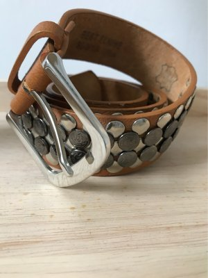 Studded Belt cognac-coloured-brown