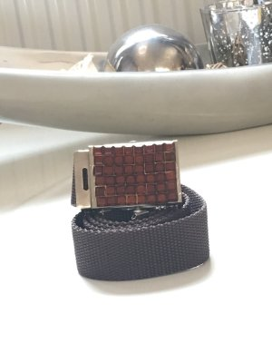 Fabric Belt brown red-dark orange