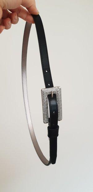 Calvin Klein Cintura nero-argento
