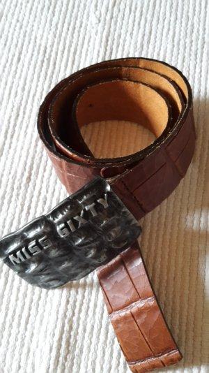 Miss Sixty Cintura di pelle marrone