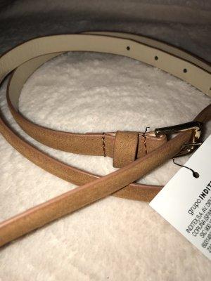 Zara Faux Leather Belt cognac-coloured