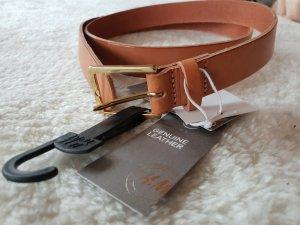 H&M Cintura marrone chiaro-marrone Pelle