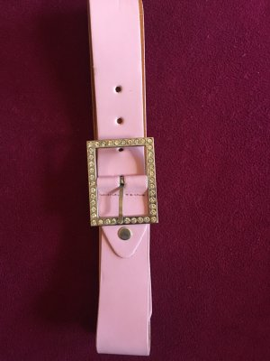 Faux Leather Belt light pink-silver-colored