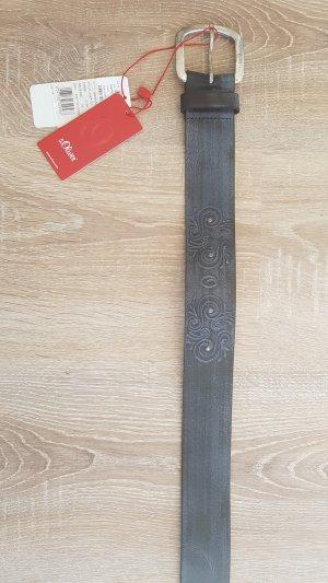 s.Oliver Cintura marrone scuro-azzurro