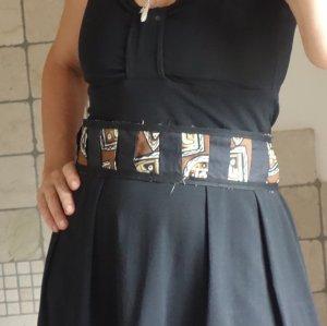 Cintura in tessuto nero-beige Cotone