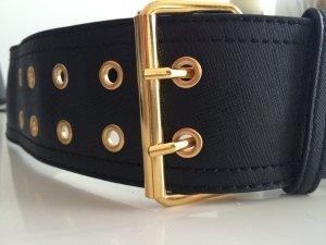 Gürtel schwarz gold von MANGO