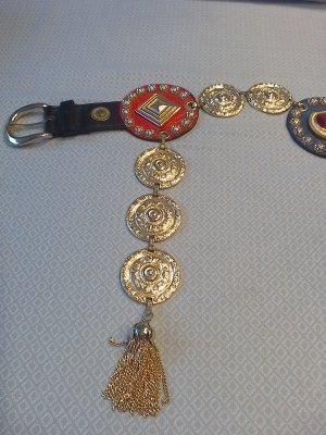 Cintura di pelle nero-oro