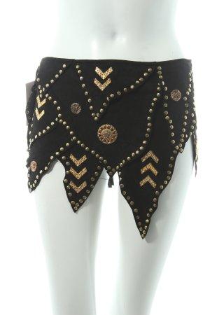 Belt black-gold-colored extravagant style