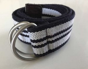Fabric Belt black-white