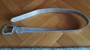 Faux Leather Belt silver-colored