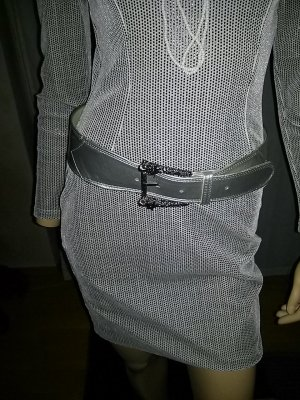 Waist Belt silver-colored imitation leather