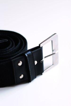 Gürtel, Stoff, 115cm Länge, schwarz/silber