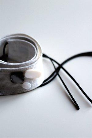 Cinturón de cadera beige claro-blanco puro Algodón