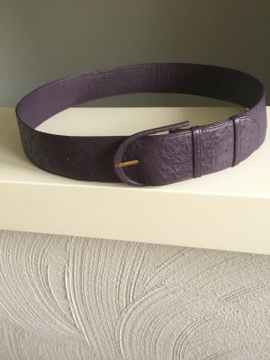 Leather Belt dark violet