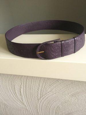 Gürtel, Straußenleder, lila-violett