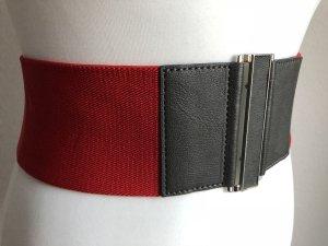 Cintura vita rosso-rosso mattone