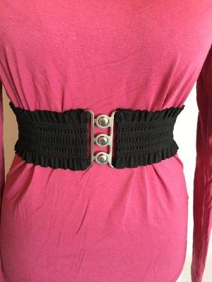 Cinturón pélvico negro-color plata