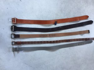 Armani Jeans Fabric Belt grey brown