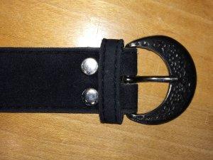 Gürtel Velours schwarz 80 cm