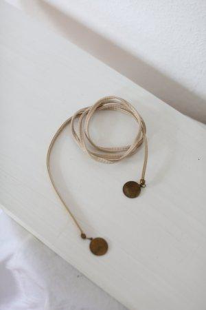 beclaimed vintage Waist Belt natural white