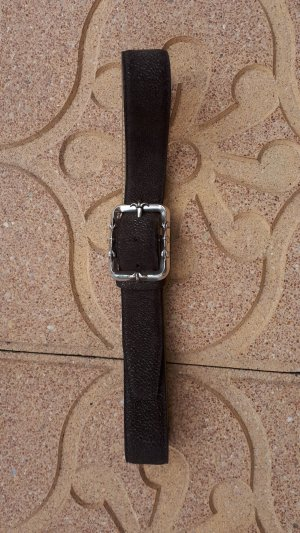 VMP Leather Belt dark brown leather