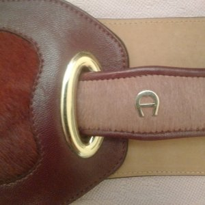 Aigner Waist Belt bordeaux leather