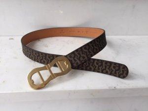 Aigner Belt brown-dark brown leather