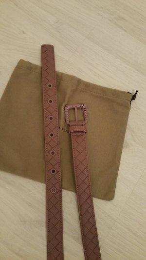 Bottega Veneta Leather Belt dusky pink leather