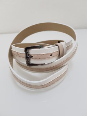 Comma Faux Leather Belt white-sand brown