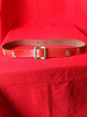 Leather Belt red leather