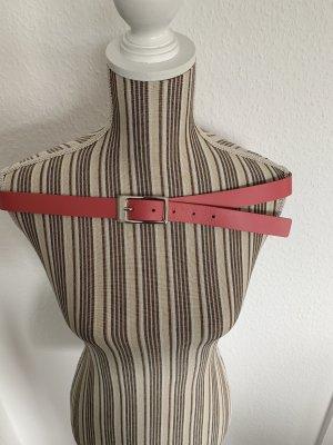 Esprit Cinturón de cuero de imitación rosa-rosa