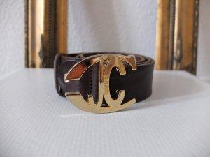 Gürtel von Just Cavalli Roberto Cavalli Echtleder Leder braun gold Größe 75cm