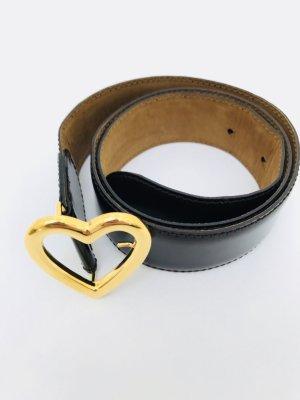Gürtel von Moschino, braun - gold, echtes Leder