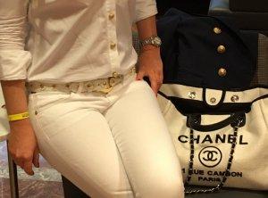 Nanni Lederen riem wit