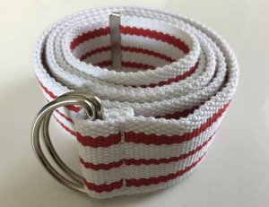 Fabric Belt white-red