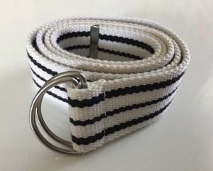 Fabric Belt white-black
