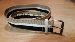 Gürtel (weiss, schwarz, beige) Länge 108 cm mit Schnalle