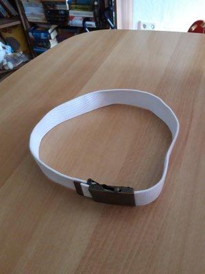 Cintura in tessuto bianco Cotone