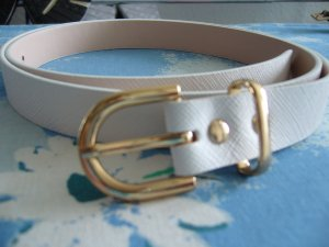 H&M Belt white-gold-colored synthetic material
