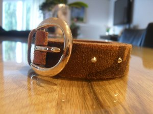 Vanzetti Leather Belt camel-grey brown suede