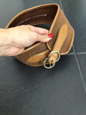 Cintura carminio-marrone