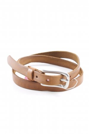 Belt Buckle brown-silver-colored casual look