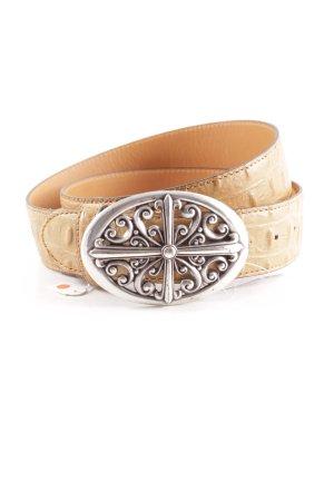 Boucle de ceinture brun sable motif animal style campagnard