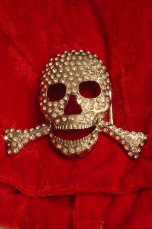 Gürtelschnalle * Totenkopf * Skull * Strass *