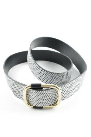 Boucle de ceinture blanc-noir motif de tache style décontracté