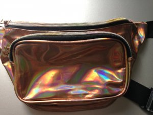 Bumbag gold-colored-rose-gold-coloured imitation leather