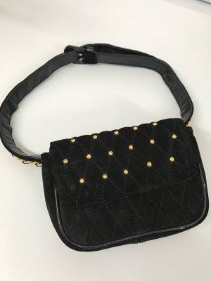 Bumbag black-sand brown leather