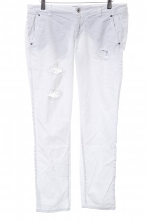 Guess 3/4 Length Jeans white casual look