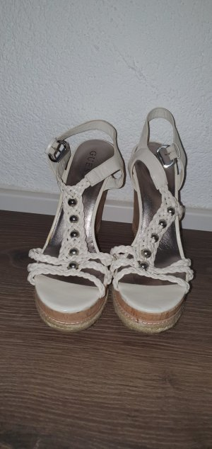 Guess Wedge Pumps white-light brown