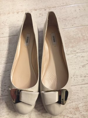 Guess Ballerinas natural white-oatmeal leather
